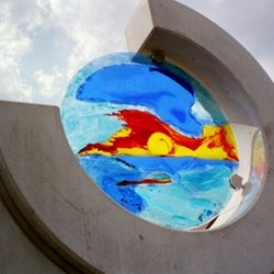 Glasfusing Mauer