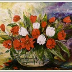 Tulpen - Öl a. Leinen  / 60x80